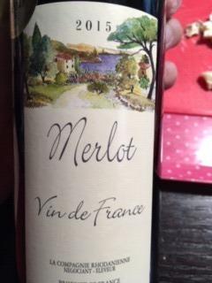 la campagne merlot Merlot Vin de France.JPG